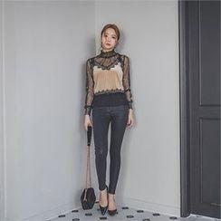 ERANZI - Faux-Leather Skinny Pants