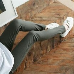GLAM12 - Band-Waist Skinny Pants