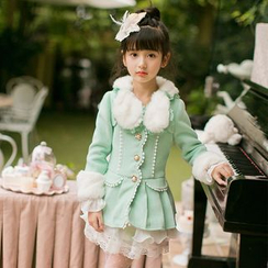 Candy Rain - Kids Woolen Long Coat