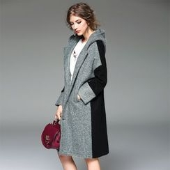 Y:Q - Two-Tone Hooded Coat