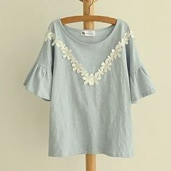 Angel Love - Lace Trim T-Shirt
