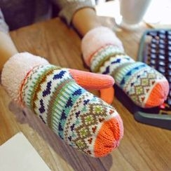 Lose Show - Patterned Knit Gloves