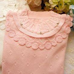 Cobblestone - Beaded Sweater