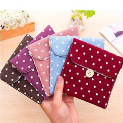 School Time - Dotted Sanitary Pad Pouch