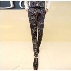 Kieran - Patterned Slim Fit Pants