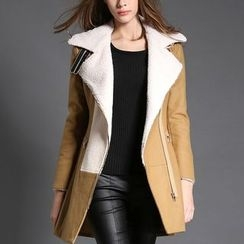 Merald - Shearling-lined Lapel Coat