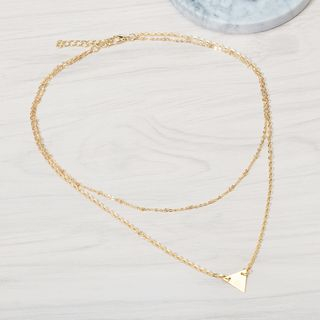 Triangle Double-Chain Necklace