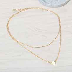 Seirios - Triangle Double-Chain Necklace