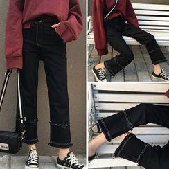 CHIH - 散边靴形牛仔裤