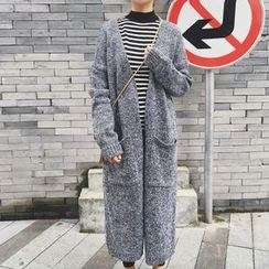 Cloud Nine - Melange Long Knit Jacket