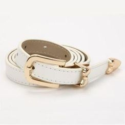 O.SA - Genuine-Leather Slim Belt