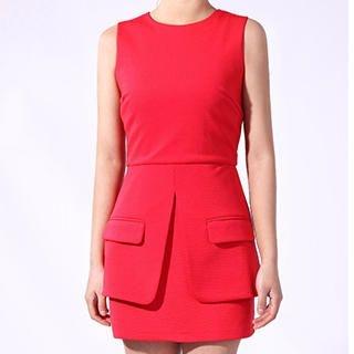 YiGelila - Sleeveless Layered A-Line Dress