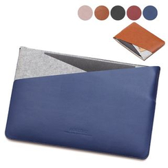 ACE COAT - Faux Leather Macbook Sleeve