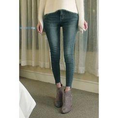 ATTYSTORY - Fray-Hem Skinny Jeans