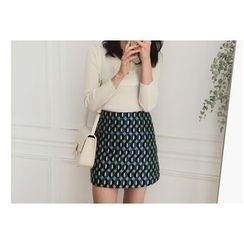 UPTOWNHOLIC - Pattern A-Line Skirt
