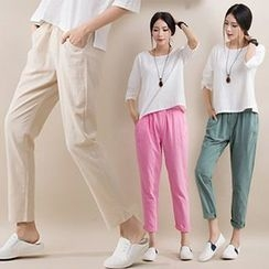 chic n' fab - Plain Cropped Pants