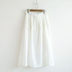 Ranche - Embroidered Maxi Skirt