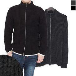 Seoul Homme - Waffle-Knit Zip-Up Jacket