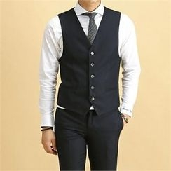 THE COVER - Welt-Pocket Buttoned Vest