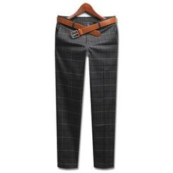 Seoul Homme - Checked Dress Pants
