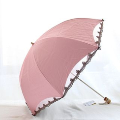 Timbera - Lace Trim Compact Umbrella