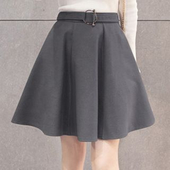 Zzang Girls - Plain A-Line Mini Skirt