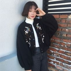 Dute - Embroidered Snap Button Jacket