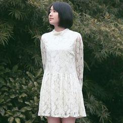 11.STREET - Long-Sleeve Lace Dress