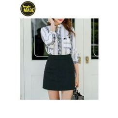 BONGJA SHOP - Cotton A-Line Skirt