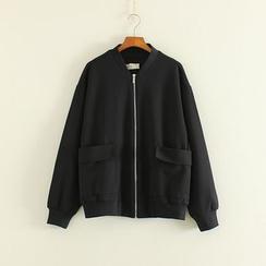 三木社 - 纯色拉链外套
