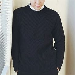 MITOSHOP - Wool Blend Rib-Knit Sweater