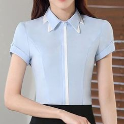 Caroe - Panel Short-Sleeve Blouse