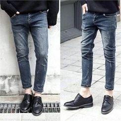 TOMONARI - Washed Straight-Cut Jeans