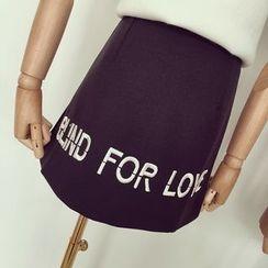 Honeydew - Lettering A-Line Skirt