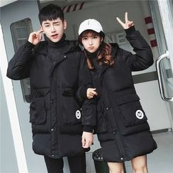 Simpair - Couple Matching Hooded Padded Coat