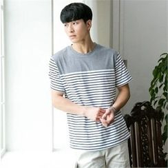 STYLEMAN - Short-Sleeve Stripe T-Shirt