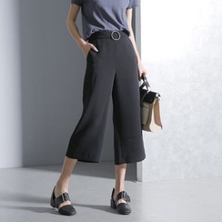 Sonne - Wide-Leg Cropped Pants