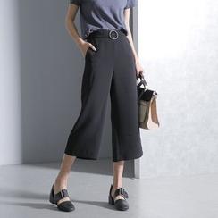 Sonne - 金屬九分闊腿褲