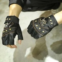 Streetstar - Faux-Leather Studded Gloves