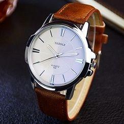 YAZOLE - 真皮带手表