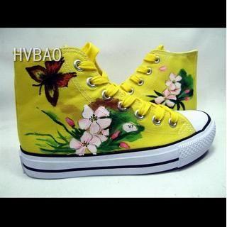 HVBAO - High-Top Canvas Sneakers