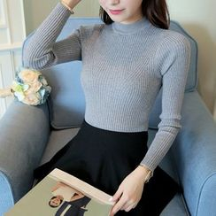 SimplyMe - Mock Neck Knit Pullover