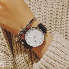 Honey Bee - Faux Leather Strap Watch
