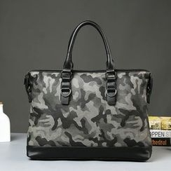 BagBuzz - Faux Leather camo Business Bag