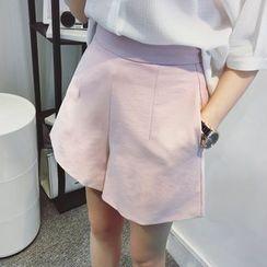 VIZZI - Plain Wide Leg Shorts