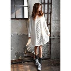 GOROKE - Round-Neck Cable-Knit Dress