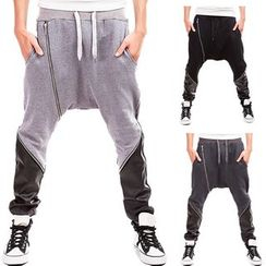 Peibo - Zip Harem Pants