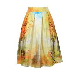 Flore - Printed A-Line Skirt