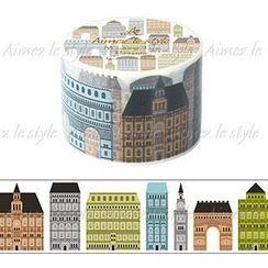 Aimez le style - Aimez le style Masking Tape Primaute Wide Cothic Buildings