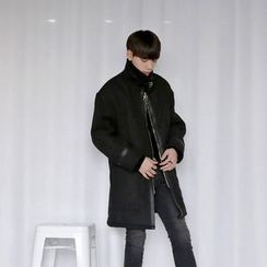 Seoul Homme - Zip-Up Faux-Shearling Jacket